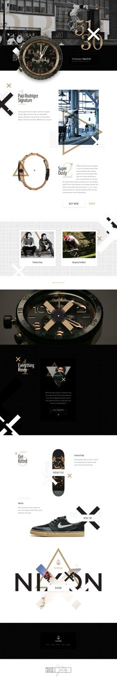 Nixon Paul Rodriguez - #11 Ui design concept and website home for the watch series, by Ben Johnson (Elegant Seagulls) on Dribbble.: