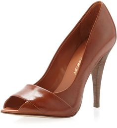 Elisaveette Layered-Vamp Pump, Cuoio by Rebecca Minkoff at Neiman Marcus Last Call. Fly Shoes, Pump Shoes, Pumps, Heels, Sneaker Boots, Beautiful Shoes, Summer Shoes, Rebecca Minkoff, Me Too Shoes