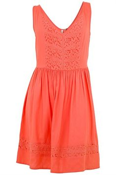 Dresses - Lee Cooper Lace Panel Dress