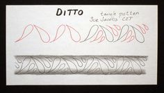 Sue's tangle trips: Ditto tangleations