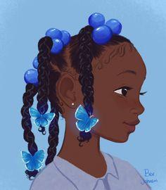 Black Cartoon Characters, Black Girl Cartoon, Cartoon Art, Fictional Characters, Black Art Painting, Black Artwork, Black Love Art, Black Girl Art, Art Noir