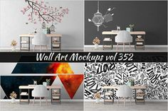 Wall Mockup - Sticker Mockup Vol 352 by Creative Interiors on @creativemarket