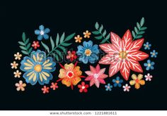Embroidery Bouquet Stylish Composition Isolated On Stok Vektör (Telifsiz) 1221881611 Composition, Bouquet, Dragon, Brooch, Embroidery, Stylish, Illustration, Accessories, Image