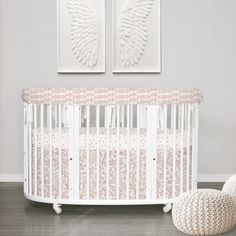 Stokke sleepi 3pc rail guard set - XOXO Collection - in shimmering Rose Gold a true luxurious look for your Stokke & Oval crib. Learn more at Lublini.com #stokke