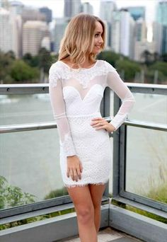 White ' Falling From Grace' Lace Dress