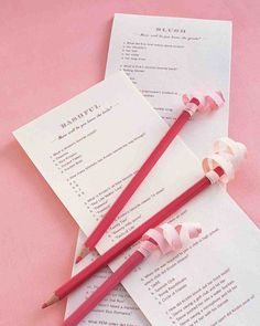 "Bridal Shower Games That Are Actually Fun to Play | Martha Stewart Weddings - Type up multiple-choice quizzes with trivia about the bride and groom. (Ask relatives for anecdotes from their childhood and teen years.) For example, ""What is Steve's all-time favorite cereal?"" or ""Which famously bad hairdo did Maggie sport at age 6?"" Give each guest a quiz and a pencil. Reading the questions and answers aloud makes the game more entertaining. Whoever gets the most answers right wins."