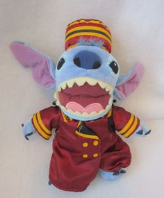 "Disneyland WDW Tower Of Terror Bellhop Stitch Plush Soft Toy Stuffed 10""  #Disney"