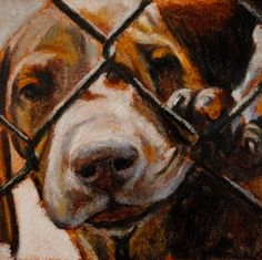 Mark Barone produced oil-based protraits of thousands of shelter dogs, hoping to raise awareness of their plight and of no-kill solutions. You can check out his project and learn more about the dogs and the artist who paints them at www.anactofdog.org