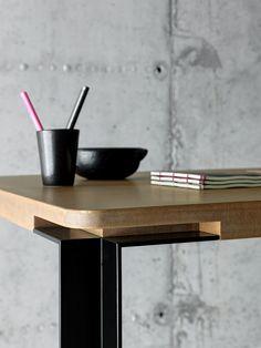Rectangular MDF table TAL by FIORONI design fioroni crs
