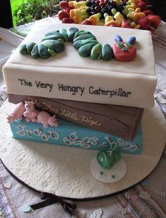 "Nicole's ""Children Book"" Themed baby shower cake :) Bellanca Bellanca Domzalski this is amazing! Beignets, Cupcakes, Cupcake Cakes, Baby Bump Cakes, Cake Baby, Storybook Baby Shower, Storybook Party, Book Cakes, Baby Shower Themes"