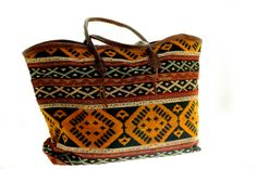 Straps in leather. Morocco, Shopping Bag, Ethnic, Leather, Bags, Shoes, Fashion, Handbags, Moda