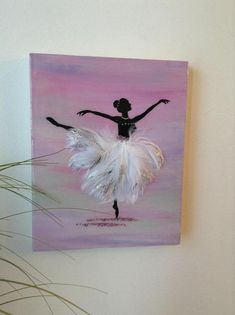 Pretty ballerina painted on wooden panel. Tutu made of goose feathers, high gloss epoxy resin finish Ballerina Tutu, Ballerina Painting, Resin Wall Art, Epoxy Resin Art, Art Ballet, Ballet Decor, Acrylic Painting Canvas, Canvas Art, Ballet Wallpaper