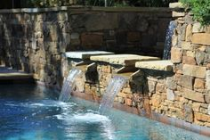 Pool Fountains And Waterfalls Look Of A Waterfall To
