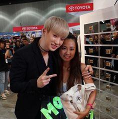 cj_o_shopping: Monsta X made a surprise visit to CJ O Shopping booth #kcon#celebshop #cjoshopping #monstax || Monsta X Wonho