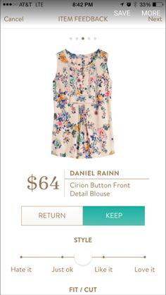 #stitchfix @stitchfix stitch fix https://www.stitchfix.com/referral/3590654 Daniel rainn cirion blouse! Love this!