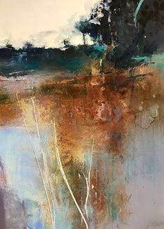 Daily Painters Abstract Gallery: Contemporary Abstract Landscape Painting Serenity by Intuitive Artist Joan Fullerton Abstract Landscape Painting, Art Painting, Abstract Artists, Landscape Artist, Painting, Abstract, Landscape Art, Abstract Art Landscape, Abstract Painters