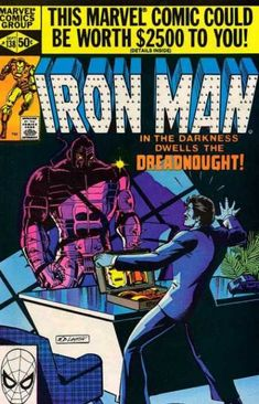Iron Man Bronze Age Marvel Comics Appearance of Dreadnought VF/NM Iron Man Comic Books, Old Comic Books, Best Comic Books, Marvel Comic Books, Comic Book Covers, Comic Book Heroes, Marvel Characters, Marvel Art, Old Comics