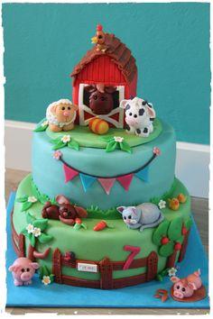 Sweet Farm Cake | Boerderij Taart | Made by Simply Sweet NL #farm #animals #boerderij #dieren