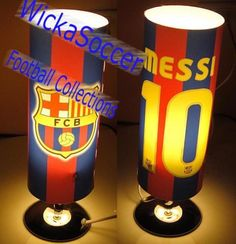 FC Barcelona Messi Reading Lamp - Click Image to Close Soccer Room Decor, Soccer Bedroom, Football Bedroom, Boy Decor, Kids Bedroom, Fc Bacelona, Bedroom Themes, Bedroom Ideas, Rosalie