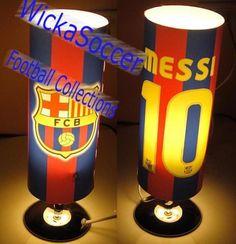 FC Barcelona Messi Reading Lamp - Click Image to Close Soccer Room Decor, Soccer Bedroom, Football Bedroom, Boy Decor, Kids Bedroom, Fc Barcelona, Bedroom Themes, Bedroom Ideas, Rosalie