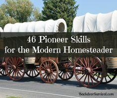 46 Pioneer Skills for the Modern Homesteader via @survivalwoman