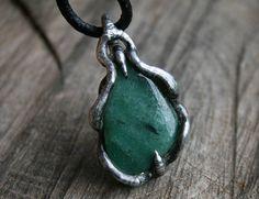 men aventurine pendant, necklace from #Blacksmithworkshop #mennecklace #menspendant #aventurinenecklace #gemstonenecklace #metalwork #mens #forhim