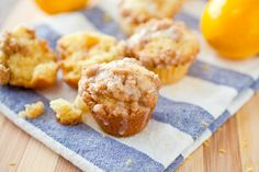 Meyer Lemon Mini Muffins with Crumb Topping | The Crepes of Wrath
