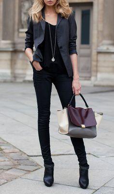 Celine Trapeze Handbag Leather Cream Grey Coffee   #officialcelineoutlet