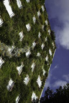 Jardín vertical - Fachada Hotel B3 Bogotá