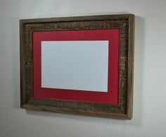 12x16 eco chic picture frame from reclaimed wood with natural patina