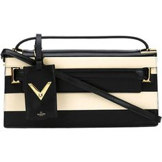 Valentino 'My Rockstud' Leather Flap Clutch Bag (9,700 CNY) found on Polyvore featuring women's fashion, bags, handbags, clutches, 100 leather handbags, leather strap purse, valentino handbags, flap clutch and strap purse