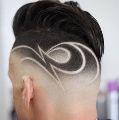 Image may contain: one or more people Barber Haircuts, Hot Haircuts, Boy Hairstyles, Fashion Hairstyles, Hair Designs For Boys, Haircut Designs For Men, Hair Tattoo Designs, Undercut Hair Designs, Hair And Beard Styles