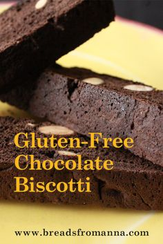 Enjoy this delicious, gluten-free chocolate biscotti snack with any warm drink such as tea, coffee or hot chocolate!