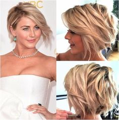 short hairstyles long in front and short in back - Google Search