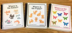 """""""Where is the Puppy?"""" and Free Puppy Preposition Bingo! - The Autism Helper Teaching Phonics, Teaching Kids, Kids Learning, Speech Therapy Activities, Book Activities, Bingo, Emotions Cards, Autism Signs, Pets"""