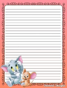 Pen Pal Letters, Pocket Letters, Writing Paper, Letter Writing, Disney Writing, Printable Lined Paper, Pretty Writing, Disney Printables, Stationery Paper