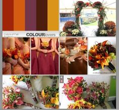 More October Wedding colors@Megan Ford what about these instead of the blue?