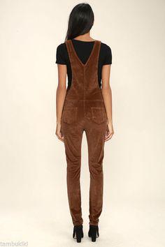 Women Corduroy Brown Cords Skinny Pants Classic Bib Jumper 206 mv Overalls S M L Denim Overalls, Dungarees, Mom Style, Skinny Pants, Corduroy, Beautiful Outfits, Womens Fashion, Mom Fashion, Jumpsuit