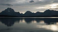 Beautiful Mount Moran in Grand Teton National Park, Wyoming.