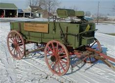 International Harvester Woodwn Wagon | Wooden Wheeled McCormick Deering International Harvester farm wagon ...