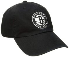 47 NBA Brooklyn Nets Adult Unisex NBA Clean Up Adjustable Hat 05c2be46a3c0
