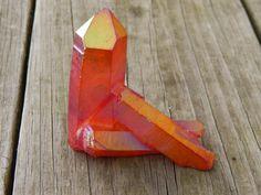 Genuine RED AURA QUARTZ Cluster  Titanium Bismuth by esoTERRAca
