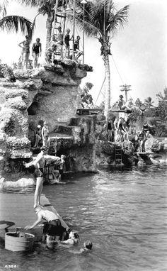 Children enjoying the Venetian Pool - Coral Gables, Florida