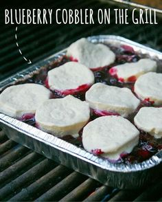 Because everything tastes better when it's cooked over a campfire, you must try this Blueberry Cobbler! 1) Top berries with biscuit dough. 2) Cover with foil and heat over a fire. 3) Devour.