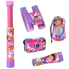 This wonderful Dora the Explorer Adventure Kit lets the imagination of your child run free. Adventure kit come with a focus free Camera, flashlight that illuminates 10 feet, working. Little Girl Toys, Little Girls, Working Compass, Princess Toys, Baby Doll Accessories, Kids Electronics, Kids Makeup, Dora The Explorer, Kids Toys