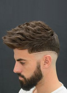Mens Hairstyles With Beard, Quiff Hairstyles, Hair And Beard Styles, Teen Boy Haircuts, Haircuts For Men, Men's Haircuts, Barber Shop Haircuts, Quiff Haircut, Gents Hair Style