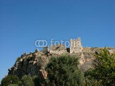 Festung Pecinkale auf einem Vulkankegel bei Milas in der Nähe von Bodrum in der Provinz Mugla in der Türkei
