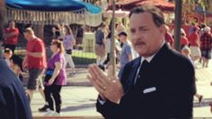 "Tom Hanks as Walt Disney, backstage filming for ""Saving Mr. Banks"""
