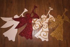 HolidayFlying Angels - Great for Crafting! Sold in Matte White.