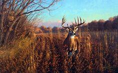 """Mel Johnson and the Beanfield Buck - Whitetail Deer"" Hunting Painting, Hunting Art, Deer Hunting, Hunting Signs, Whitetail Hunting, Wildlife Paintings, Wildlife Art, Deer Paintings, Original Paintings"